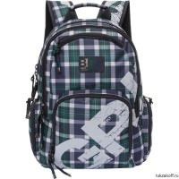Рюкзак Grizzly Squares BlueGreen Ru-723-1