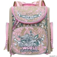Школьный ранец Grizzly Little Girls Beige-Pink Ra-771-3