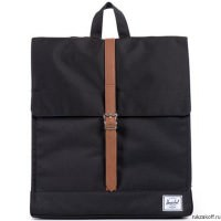 Рюкзак Herschel City Mid-Volume Black//Tan Synthetic Leather